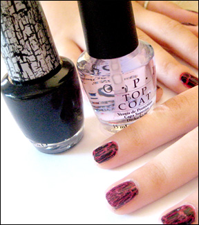 OPI Crackle Black Shatter