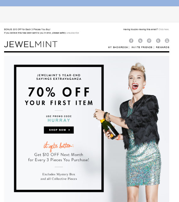 JewelMint: 70% of Your First Fabulous Jewerly from JewelMint