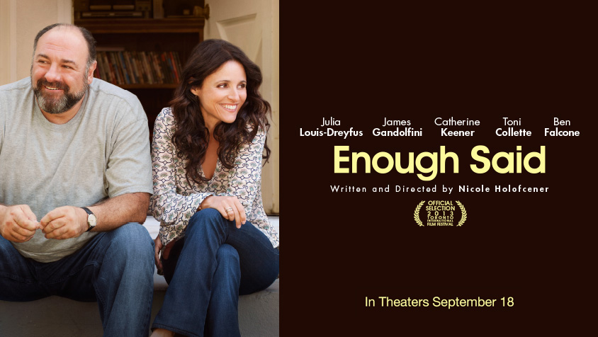 "James Gandolfini & Julia Louise-Dreyfus in ""Enough Said""  